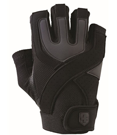 Harbinger Mens Training Grip Fitness Eldiven Siyah ve Gri