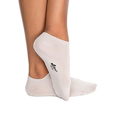 Jerf Patik Çorap Açık Gri