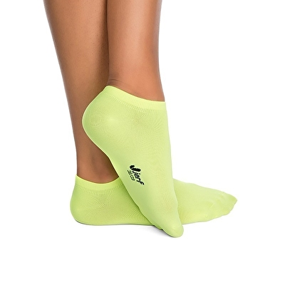 Jerf Patık Çorap Neon Sarı