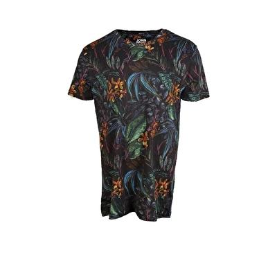 John Frank Baskılı Dijital T-Shirt Leafy