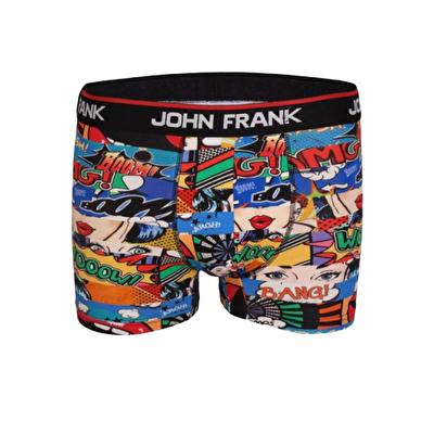John Frank Dijital Baskılı Boxer Çok Renkli - OMG