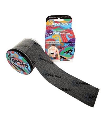 Kinesio Tape Tex Performance+ 5 cm X 5 m Logolu Ağrı Bandı Siyah