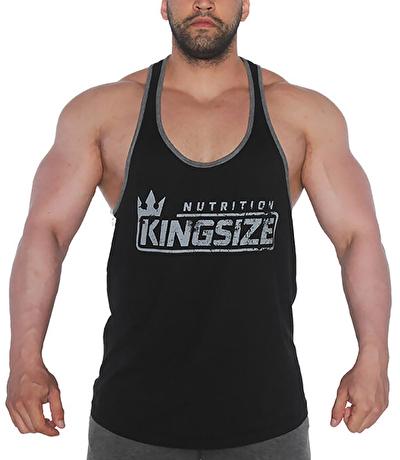 Kingsize Logolu Klasik Tanktop Siyah